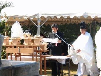 H21年陸軍墓地慰霊祭祭文奏上