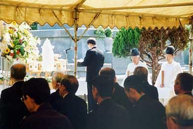 平成20年陸軍墓地慰霊祭 祭文